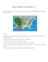 Bài tâp SGK môn địa lý lớp 7 (48)