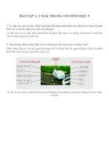 Lý thuyết và bài tập môn sinh học lớp 9 (5)