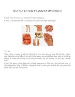 Bài tập SGK môn sinh học lớp 8 (10)