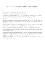 Bài tập SGK môn sinh học lớp 8 (33)