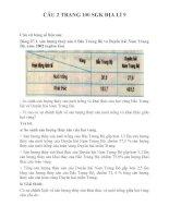 Bài tập SGK môn địa lý lớp 9 (10)