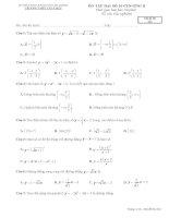 BÀI TẬP TRẮC NGHIỆM ĐẠI SỐ 10 CHƯƠNG II