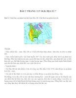 Bài tâp SGK môn địa lý lớp 7 (4)