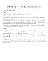 Bài tập SGK môn sinh học lớp 6 (12)