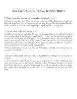 BÀI TẬP 1, 2, 4 SGK TRANG 165 SINH HỌC 9