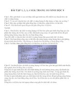 Bài tập SGK môn sinh học lớp 8 (13)