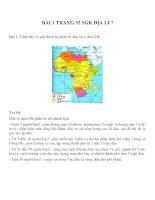 Bài tâp SGK môn địa lý lớp 7 (1)