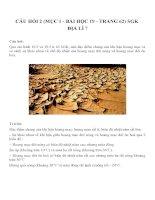 Bài tâp SGK môn địa lý lớp 7 (65)