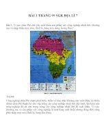 Bài tâp SGK môn địa lý lớp 7 (25)