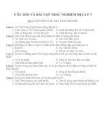 Câu hỏi và bài tập trắc nghiệm địa lý 9 (31)