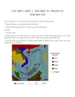 Bài tập SGK môn địa lý lớp 8 (74)