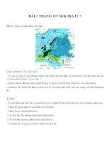 Bài tâp SGK môn địa lý lớp 7 (69)