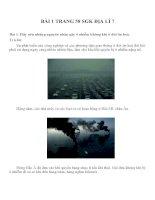Bài tâp SGK môn địa lý lớp 7 (10)