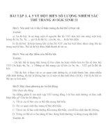 Bài tập SGK môn sinh học lớp 12 (13)