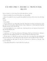 Bài tập SGK môn địa lý lớp 8 (29)