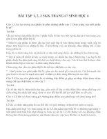 Bài tập SGK môn sinh học lớp 6 (4)