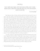 PHÁT TRIỂN HOẠT ĐỘNG TIÊU CHUẨN, ĐO LƯỜNG, CHẤT LƯỢNG NHẰM TĂNG CƯỜNG KHẢ NĂNG HỘI NHẬP CỦA VIỆT NAM VỚI NỀN KINH TẾ THẾ GIỚI