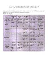 bài tập SGK sinh học lớp 7 (14)