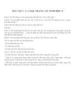Bài tập SGK môn sinh học lớp 8 (31)