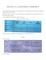 Bài tập SGK môn sinh học lớp 8 (4)