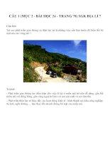 Bài tâp SGK môn địa lý lớp 7 (82)