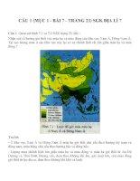 Bài tâp SGK môn địa lý lớp 7 (23)