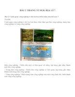 Bài tâp SGK môn địa lý lớp 7 (11)