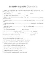 Bài tập môn tiếng anh lớp 8 (29)