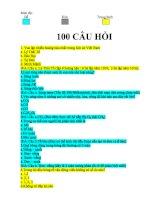 100 CAU TRAC NGHIEM KIEN THUC TONG HOP   sinh học 12   trần lê minh linh