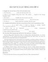 Bài tập môn tiếng anh lớp 10 (163)