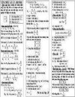 công thức giải nhanh môn  lý 5
