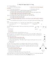 bài tập chương 1 vật lí 11 có đáp án