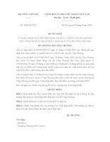 Quyết định 3948/QĐ-BCT Quy chế tiếp nhận và xử lý thông tin qua đường dây nóng về xuất nhập khẩu hàng hóa