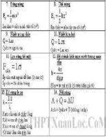 công thức giải nhanh môn  lý 4