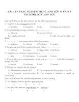 Bài tập môn tiếng anh lớp 10 (39)