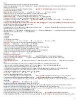 100 câu TN ôn tập SINH 11 HK i cơ bản   sinh học 12   mai thanh tính