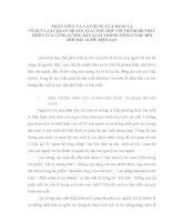TIỂU LUẬN TRIẾT học   NHẬN THỨC và sự vận DỤNG của ĐẢNG TA về QUY LUẬT QUAN hệ sản XUẤT   lực LƯỢNG sản XUẤT TRONG CÔNG CUỘC đổi mới HIỆN NAY