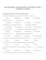 Bài tập môn tiếng anh lớp 10 (8)