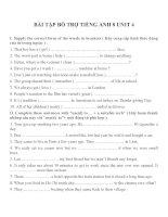 Bài tập môn tiếng anh lớp 8 (1)