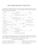 Bài tập môn tiếng anh lớp 8 (4)