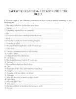 Bài tập môn tiếng anh lớp 9 (92)