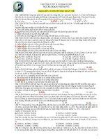 BTSinh chuyên đề 5 cấu trúc DT quần thể   sinh học 12   ngô hà vũ