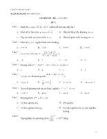 Đề trắc nghiệm về chuyên đề mũ và logarit   đề 1
