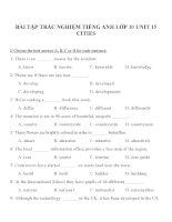Bài tập môn tiếng anh lớp 10 (7)