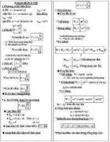 công thức giải nhanh môn  lý 8
