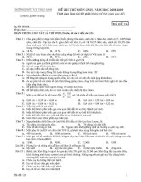 Đề thi thử môn sinh mã 114   sinh học 12   nguyễn ngọc huy