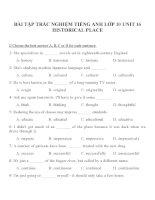 Bài tập môn tiếng anh lớp 10 (50)