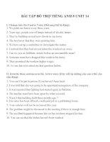 Bài tập môn tiếng anh lớp 8 (10)