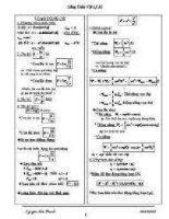 công thức giải nhanh môn  lý 12