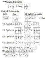 công thức giải nhanh môn  lý 7